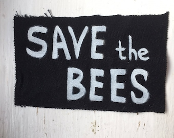 Save the Bees DIY Punk Patch