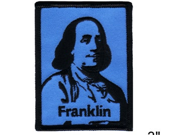 """Ben Franklin Iron On Patch 3"""" x 2 1/2"""" Free Shipping by Dave Cherry 2731"""