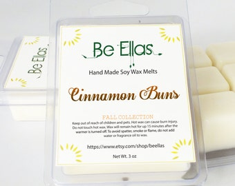 Cinnamon Buns Soy Wax Melts, Mix and Match, Fall Wax Melts, Wax Melters, Scented Wax Melts, Scented Wax Tarts, Soy Wax Tart, Gift Idea