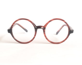 Vintage Round Eyeglasses, New Old Stock, Tortoise Shell Frame. These frames are optical quality.
