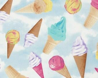 Ice Cream Cones Tossed- Sky- Timeless Treasures