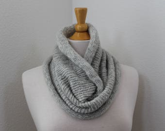Baby alpaca cowl scarf...Finnley Heather