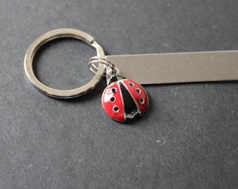 Ladybug Charm Add-On, Ladybird Charm, Ladybug Keychain, Enamel Ladybug, Enamel Charm, Customized Keychain, Stocking Stuffer