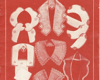 Vintage 1920s Crochet Patterns pdf version Anne Orr JP Coats Collars Cuffs Narrow Lace 19