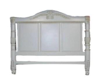 Headboard /King Headboard / soft grayish blue Dark wax / has matching dresser