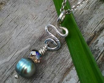 Gray Freshwater Pearl Pendant