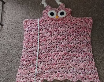 Kids owl blanket