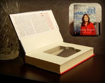 Hollow Book Safe & Flask - Sarah Palin Going Rogue - Secret Book Safe