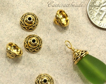 Ornate bead caps Etsy