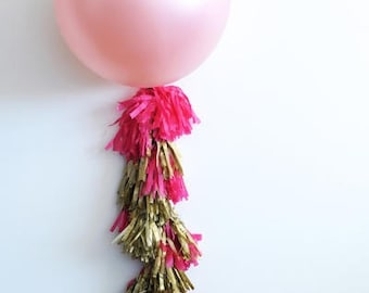 Balloon Tassel Garland- 6 feet Tissue Paper garland- ANY COLOR you choose/ Balloon tails