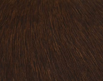 Coupon of brown cowhide leather