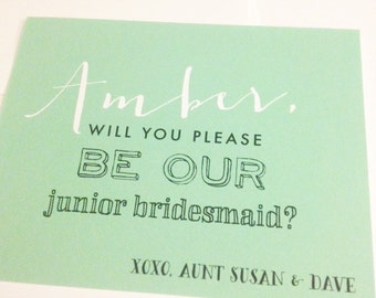 Will You Be My Junior Bridesmaid Card