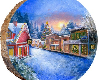 Snowy Christmas Town - DX143