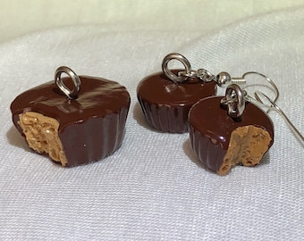 Peanut Butter Cup Charm & Earring Set