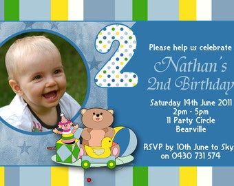 Photo Personalised Birthday Invitations - You Print