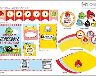 Angry Birds Birthday Party Set - DIY Printable
