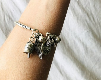 Braided Fine Silver Charm Bracelet From the Karen Hill Tribe of Thailand. Jingles!!