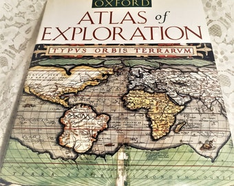 Oxford atlas etsy oxford atlas of exploration fascination book of world history exploration biography cartography gumiabroncs Images