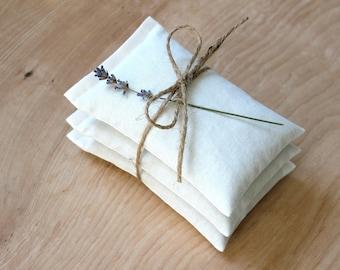 White Lavender Sachets, Eco Friendly Scented Sachets, Drawer Sachets for the Modern Minimalist