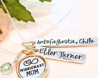 Missionary Mom necklace-Missionary Mom gift-Missionary Jewelry-Missionary Mom jewelry-LDS Missionary gift-
