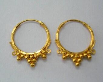 traditional design 20kt gold earrings gold hoop earrings handmade