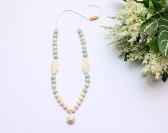 Silicone Teething Necklace | Silicone Necklace | Teething Necklace | Breastfeeding Necklace for Mom | Chewelry | Baby Shower Gift