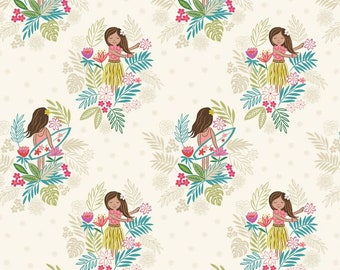 Fat Quarter Island Girl White Sand Sewing Cotton Quilting Fabric
