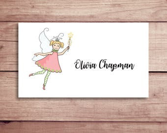 Fairy Calling Cards - Fairy Gift Tags - Favor Tags - Custom Calling Cards - Personalized Gift Tags