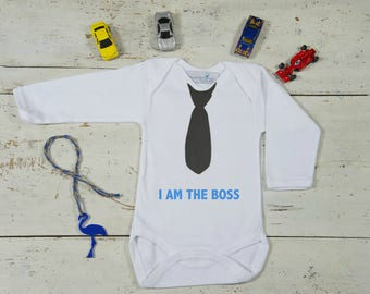 I Am The Boss Onesie-The Boss Baby Onesie-Baby Shower Gift-Funny Baby Gift-Funny Baby Clothes-Funny Baby Onesie