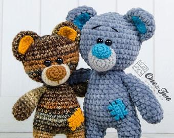 Patches the Little Teddy Bear Amigurumi - PDF Crochet Pattern - Instant Download - Amigurumi Cuddy Stuff