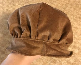 Miss muffet Hat for dress up camel corduroy. Ready to ship next day