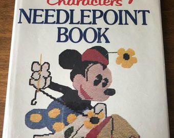 Walt Disney Characters Needlepoint Book Embroidery Needlework Instruction by Lisbeth Perrone