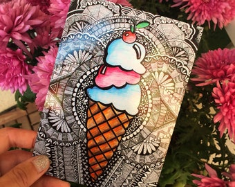 Let's Have Some Ice Cream // Postcard