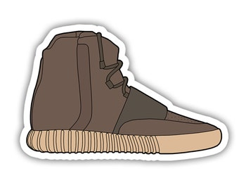 5d4bf6110 ... adidas yeezy 750 boost chocolate brown shoe decal sticker