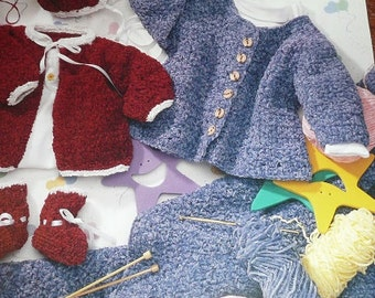 American School Of Needlework Knit & Crochet The Chenille Baby Book Pattern