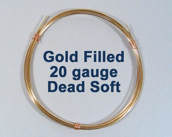 Gold Filled Wire - 20ga DS Dead Soft - Choose Your Length