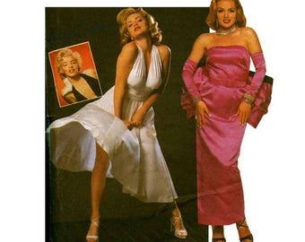 UNCUT Simplicity 0668 Sewing Pattern Size N 10-14 Misses' Marilyn Monroe Seven Year Itch/Gentlemen Prefer Blondes