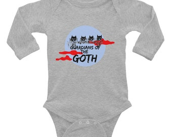 Infant Long Sleeve Bodysuit - 'Guardians of the Goth'