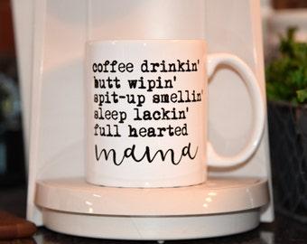 FULL HEARTED MAMA Coffee Mug