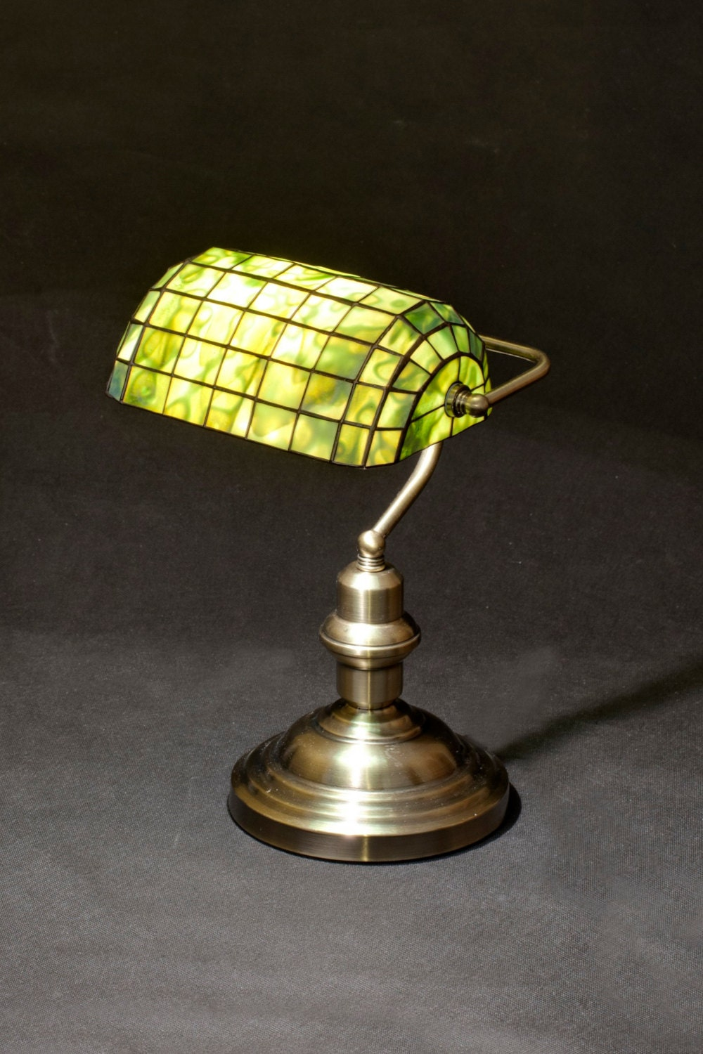 Bankers Lamp Library Lamp Brass Lamp Stained Glass Lamp for Bankers Lamp Library  585ifm