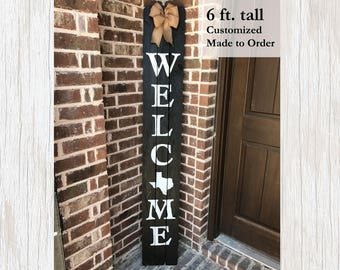 Wood State Sign, State Welcome Sign, State Sign, Reclaimed Wood Sign, Custom State Sign, Moving Gift, Personalized State Decor, State Decor
