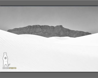 Fine Art Landscape Photography, Minimalist Art, White Sands, Art and Collectibles, Minimalist Wall Art, Sand Dunes, New Mexico, White Desert