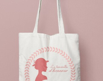 Tote Bag personalized wedding bridesmaid - romantic, bridesmaid, Maid of honor bag tote bag tote - tote bag witness
