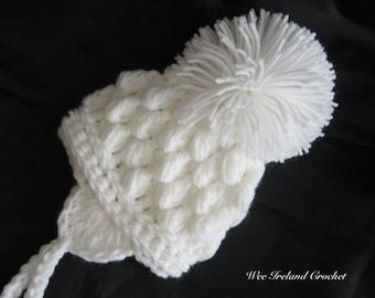 Crochet Pattern for Pom Pom Hat