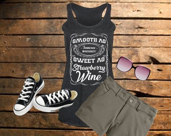 Women's Smooth As Tennessee Whiskey T-Shirt/Tank/Baseball Tee
