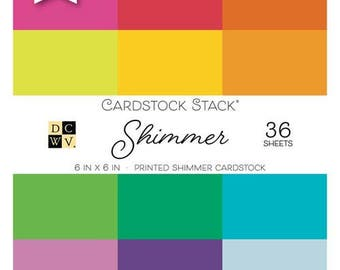 Die Cuts with a View - Shimmer - Paper Stack - 6 x 6