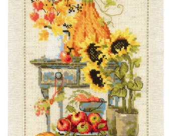 Cottage Garden. Autumn - Cross Stitch Kit from RIOLIS Ref. no.:1657
