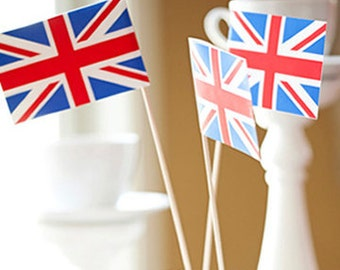 Union Jack Cake Toppers