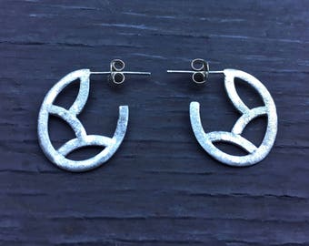 Geometria - Sterling Silver Puzzle Hoops