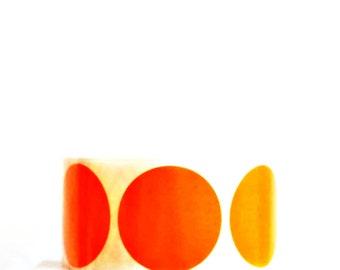 Orange Round Seals {20} 50mm Stickers   Envelope Seals   Orange Dot Stickers   Housewarming   Sweet 16   Orange Gift Seals